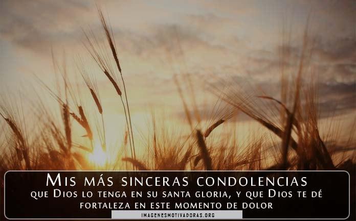 Frases con condolencias