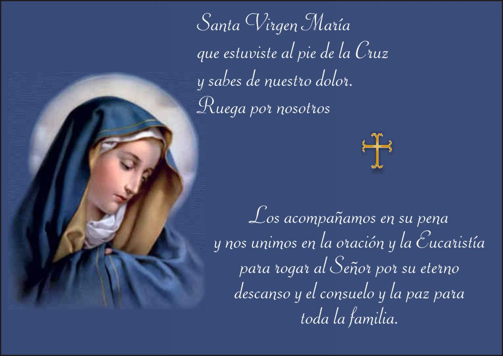 Imágenes de luto con frases católicas