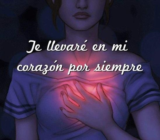 Te llevaré en mi corazón por siempre