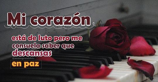 imagen de luto rosas y piano