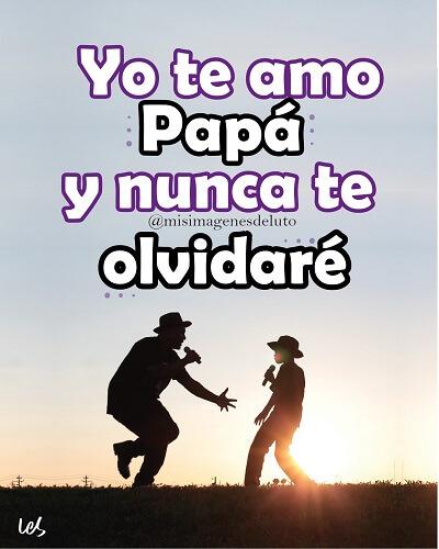 imagenes de te amo papa luto no te olvidare